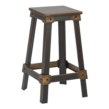 "New Castle 26"" Metal Bar Stool"