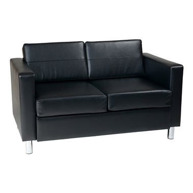 Pacific Easy-Care Faux Leather Loveseat