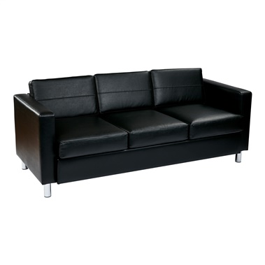 Pacific Easy-Care Faux Leather Sofa Couch