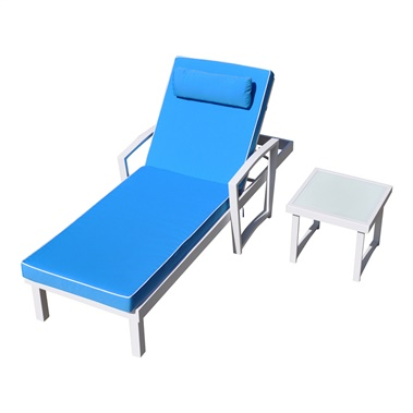 Tessa Sun Bed and End Table Set