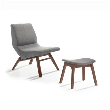 Wilson Accent Chair and Ottoman