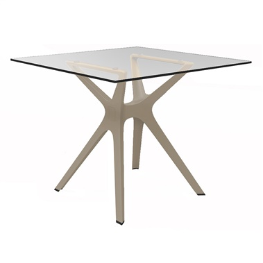 Vela S Glass Table