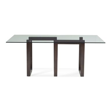 Serpent - Rectangular Glass Top Dining Table