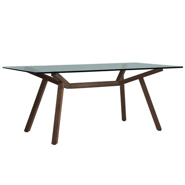 Sean Dix Forte Rectangular Dining Table (Glass Top)
