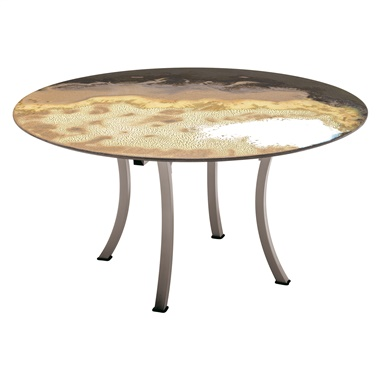 Etna Round Diagonal Cut Dining Table