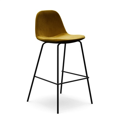 Sigfred Velvet Counter Stool