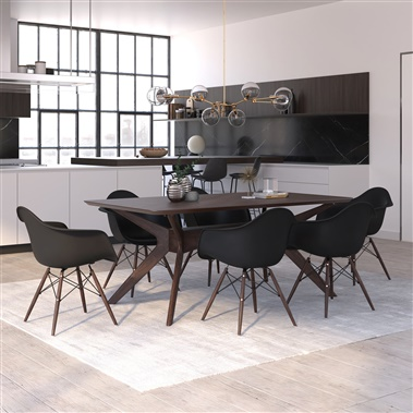 Sigrid / Molded Plastic Armchair 7-Piece Dining Set