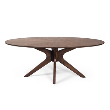 Superbe Starburst Oval Coffee Table