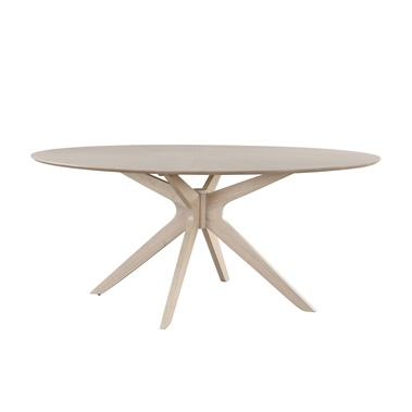 Starburst Whitewash Oval Dining Table