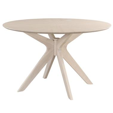 Starburst Whitewash Round Dining Table