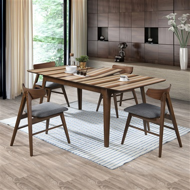 Striato / Silas Extendable 5-Piece Dining Set