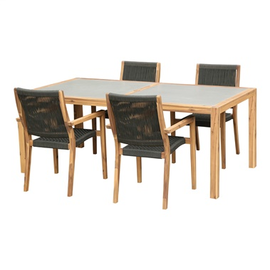Serafina and Michelle 5-Piece Outdoor Dining Set