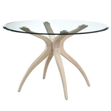 Twilight Whitewash Glass Dining Table