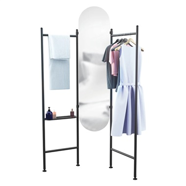 Vala Floor Mirror and Clothing Valet