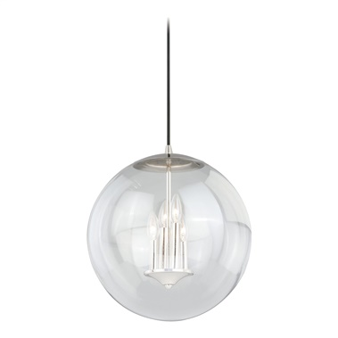 "630 Series 15"" Pendant with Clear Glass"