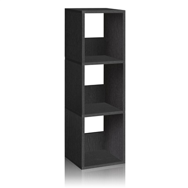 Way Basics Eco Friendly 3-Shelf Trio Narrow Bookcase and Storage Shelf