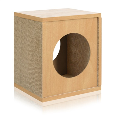 Way Basics Eco Friendly Cat Scratcher Cube House