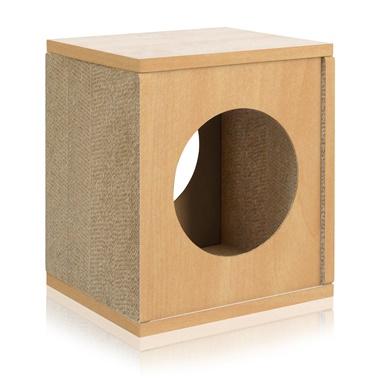 Way Basics Eco Friendly Cat Scratcher Cube House