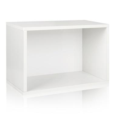 Way Basics Eco Friendly Stackable Large Rectangle Shelf and Storage Organizer
