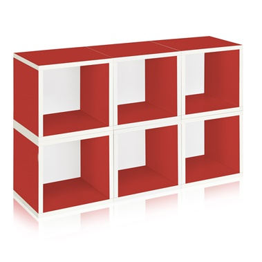 Way Basics Eco Friendly Stackable Modular 6-Cube Storage