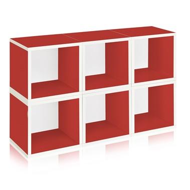 Way Basics Eco Friendly Stackable Modular 6-Cube Storage
