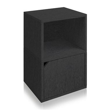 Way Basics Eco Friendly Under Desk Shelf Bookcase with Door