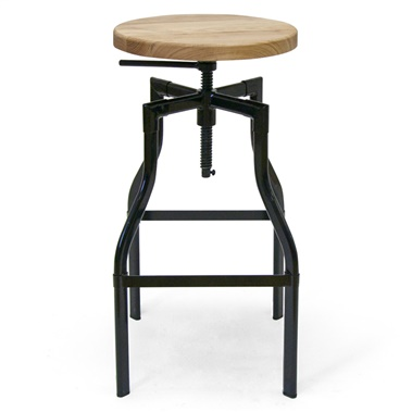 Whitworth Drafting Stool with Wood Seat