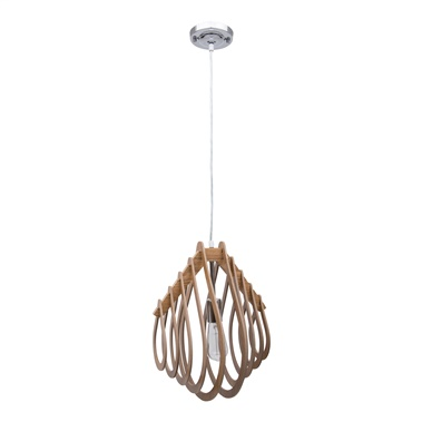 1-Light Wooden Pendant