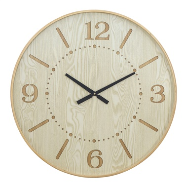 Wood Wall Clock III