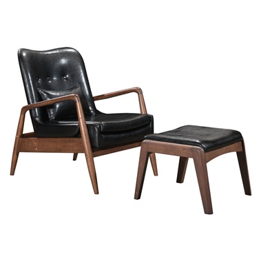 Bully Lounge Chair and Ottoman