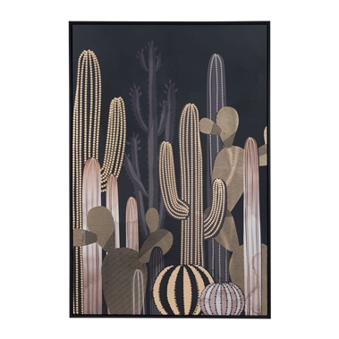 Cactus At Dusk Canvas