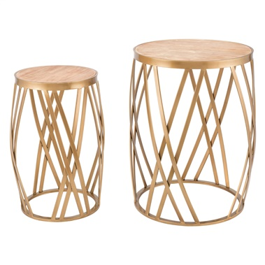 Criss Cross Table (Set of 2)