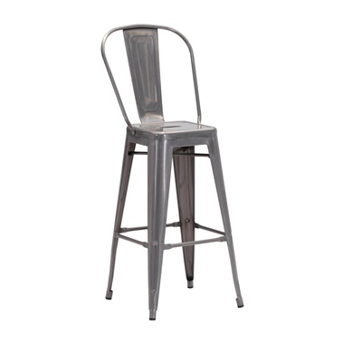 Elio Gunmetal Bar Stool