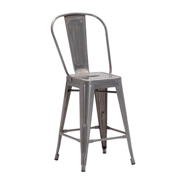 Elio Gunmetal Counter Stool