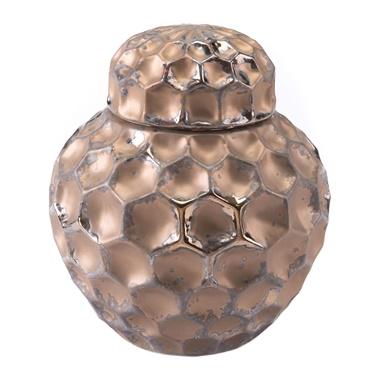 Hammered Covered Jar