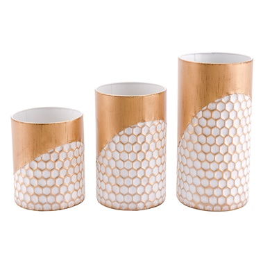 Honeycomb Candle Holder (Set of 3)