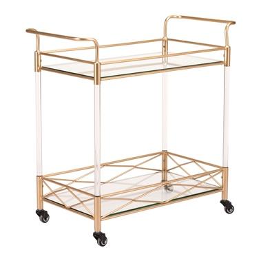 Lucite Bar Cart