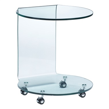 Mission Glass Side Table