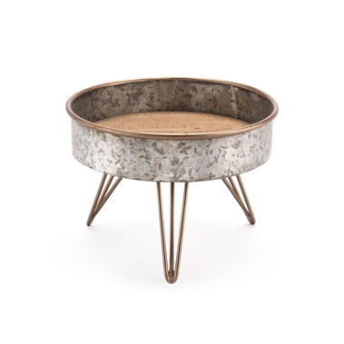 Zinc Round Tray Table