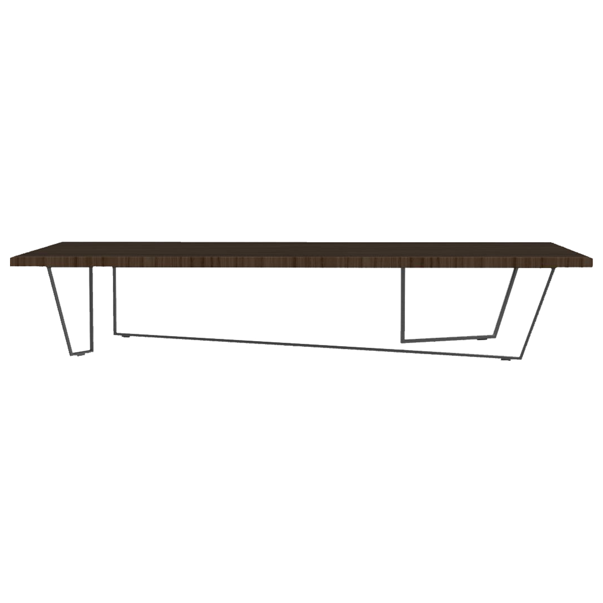 calligaris lowt coffee table - black  veneer smoke