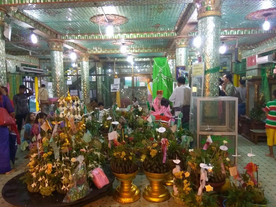 Mya Nan Nwe at Botahtaung Pagoda Yangon Myanamar