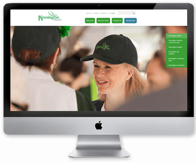 Kensington Healthcare website design responsive
