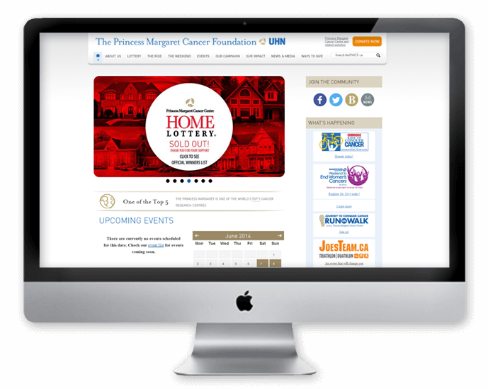 PMCF Tablet healthcare web design non-profit Toronto Canada
