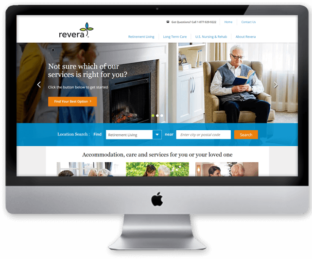 Revera website design with Kentico CMS healthcare Toronto