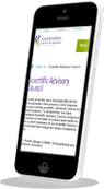 Schizophrenia responsive non-profit charity mobile web design