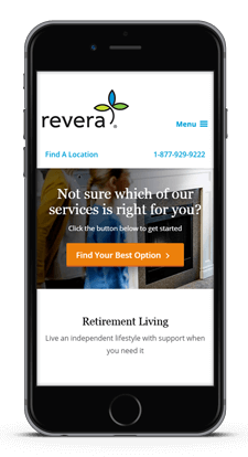 Revera responsive website design healthcare Toronto