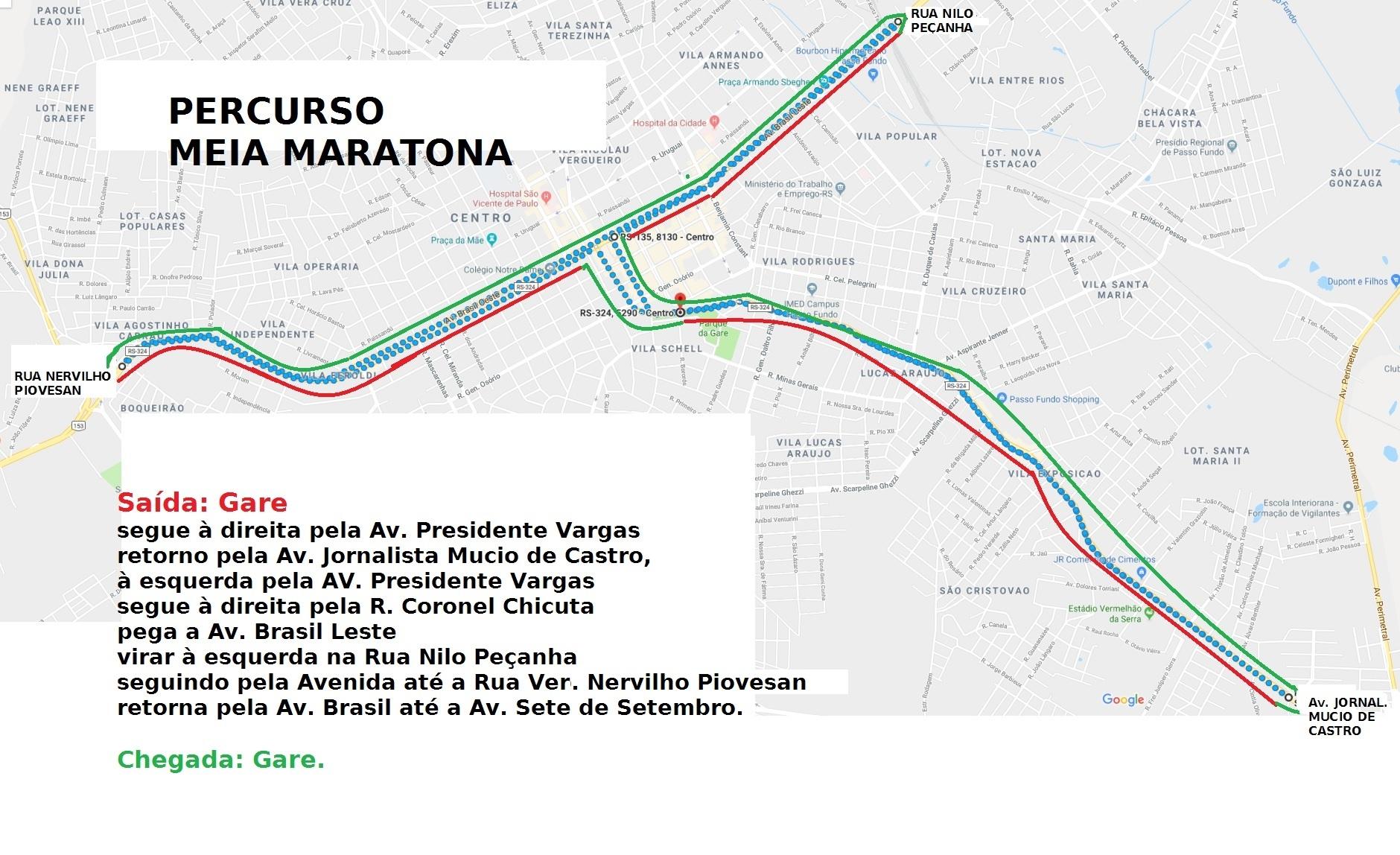 Percurso Meia Maratona