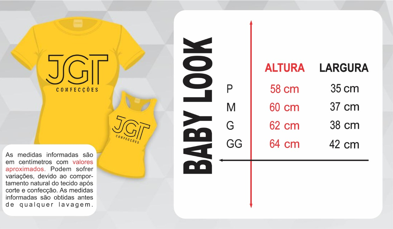 Camisetas - FEMININO - Tabela