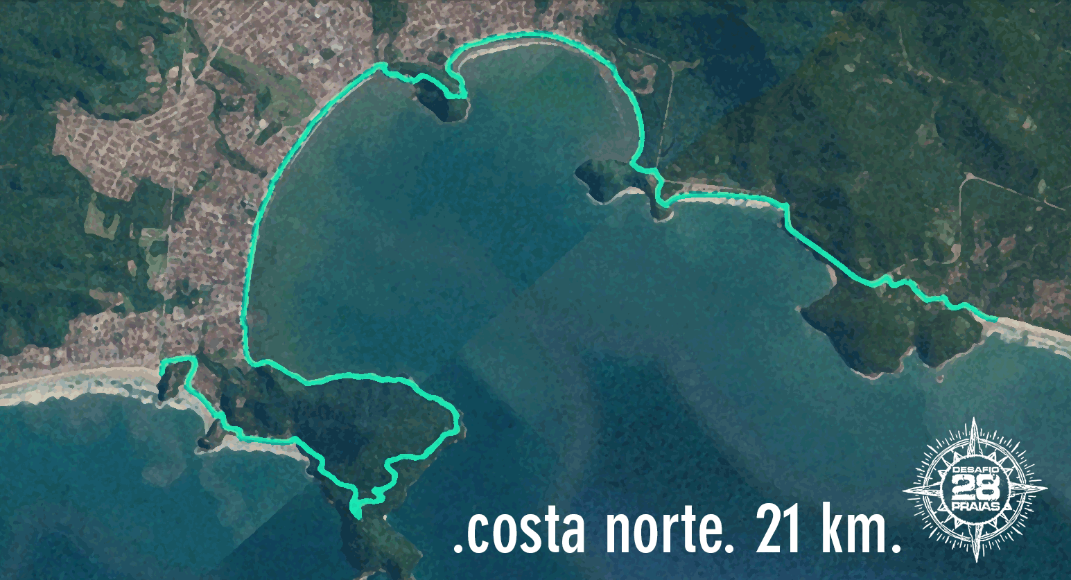 Percurso - Costa Norte - 21KM