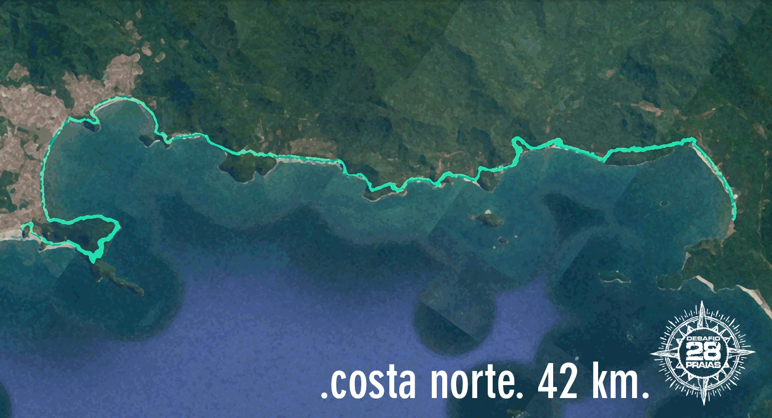 Percurso - Costa Norte - 42KM